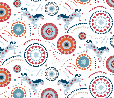 Circus party fabric by chulabird on Spoonflower - custom fabric