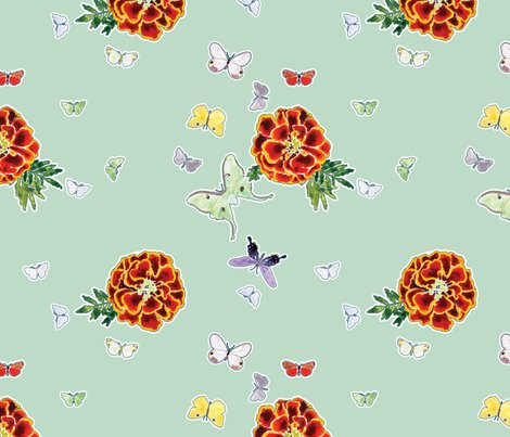 Rmoths_and_marigold_pattern_-_very_light_dunno_blue_shop_preview
