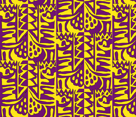 Lavender and mustard fields fabric by susaninparis on Spoonflower - custom fabric