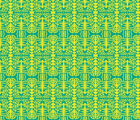 Palms swaying 3 fabric by susaninparis on Spoonflower - custom fabric
