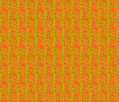 Hearts on fire 2 fabric by susaninparis on Spoonflower - custom fabric