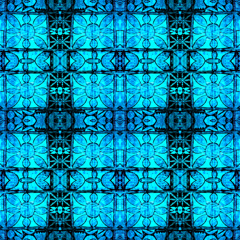 Adire - Blue syndrome fabric by susaninparis on Spoonflower - custom fabric