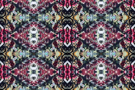 Reminds me of Old-fashioned Wallpaper fabric by susaninparis on Spoonflower - custom fabric
