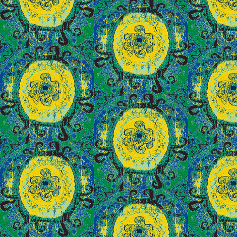 Yellow Rose of the Silk Road fabric by susaninparis on Spoonflower - custom fabric