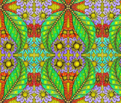 leaves_4 fabric by chelmers on Spoonflower - custom fabric