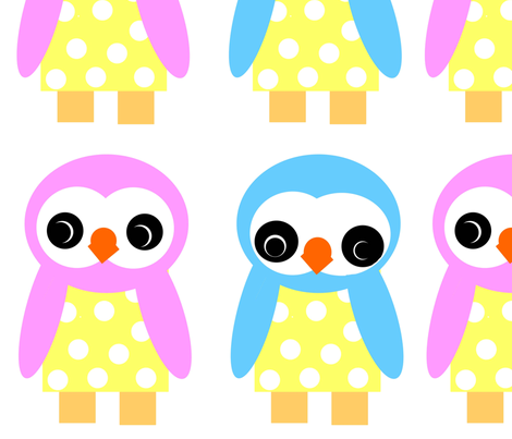 Wee Bird doll patterns fabric by applejackkids on Spoonflower - custom fabric