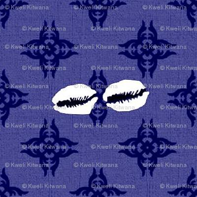 Feed Sack Cowrie-Blue-295