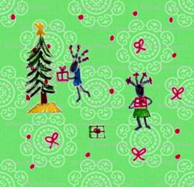 Feedsack Holiday-Green-297