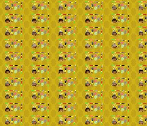 Kwanzaa Movement-Gold-298 fabric by kkitwana on Spoonflower - custom fabric