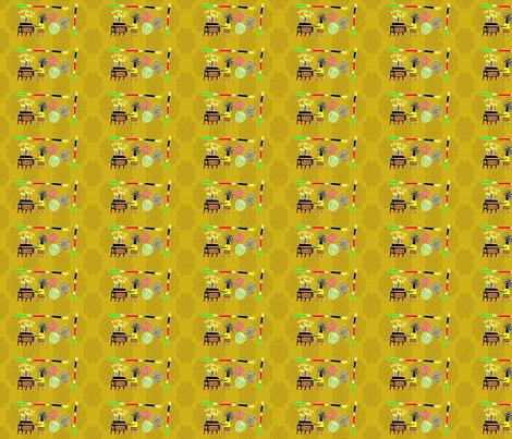 Kwanzaa Movement-Gold-298 fabric by kkitwana on Spoonflower - custom fabric