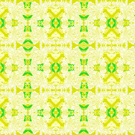 Green Butterflies fabric by robin_rice on Spoonflower - custom fabric