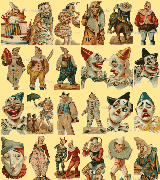 Vintage circus wallpaper