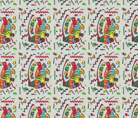 Kwanzaa Feedsack-299 fabric by kkitwana on Spoonflower - custom fabric