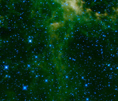Green Nebula fabric by corseceng on Spoonflower - custom fabric