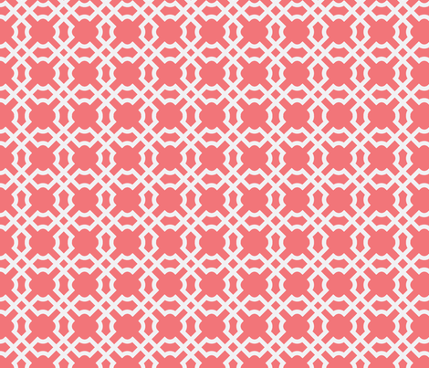 Geo Tile Sunset & White fabric by winterdesign on Spoonflower - custom fabric