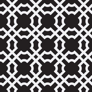 Geo Tile - White & Black