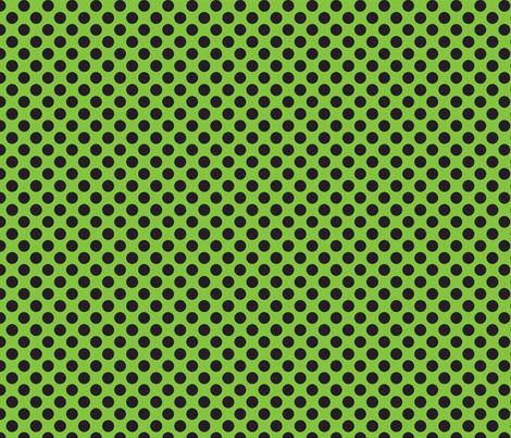 Halloween Lime/Black dots fabric by bellamarie on Spoonflower - custom fabric