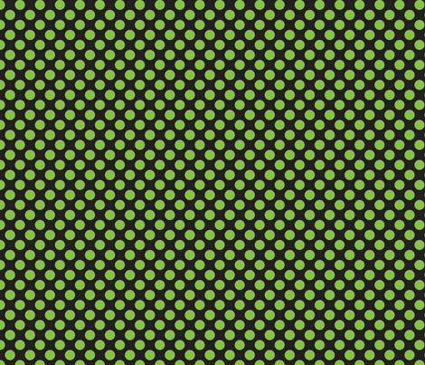 Halloween Black/Lime dots fabric by bellamarie on Spoonflower - custom fabric