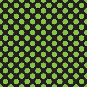 Halloween Black/Lime dots