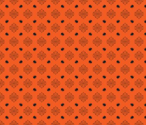 Halloween Spider Orange fabric by bellamarie on Spoonflower - custom fabric