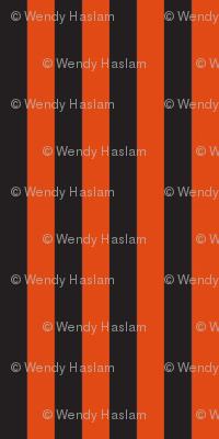 "Halloween 1/4"" stripe black/orange"