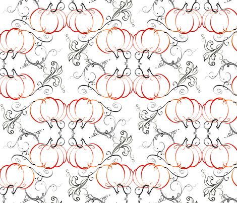 Pumpkin Swirls fabric by originalandrea on Spoonflower - custom fabric