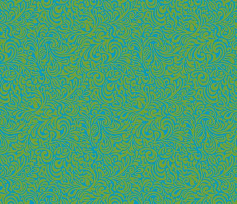 swirl botanical - lima fabric by monmeehan on Spoonflower - custom fabric