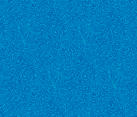 swirl botanical - azul fabric by monmeehan on Spoonflower - custom fabric
