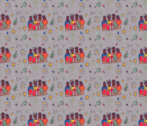 Afro XMas-301 fabric by kkitwana on Spoonflower - custom fabric