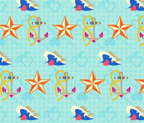 Coastie Love fabric by yourfriendamy on Spoonflower - custom fabric