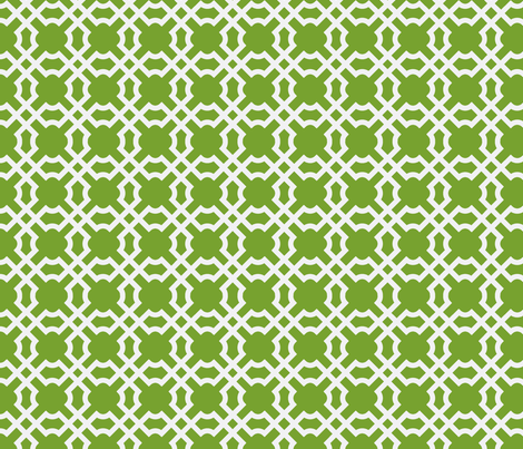 Geo Tile Kiwi fabric by winterdesign on Spoonflower - custom fabric