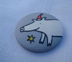Christmas brooches grey