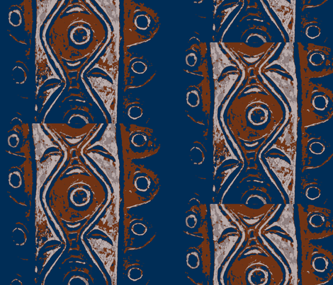 Eye of the Storm-rust and marine fabric by susaninparis on Spoonflower - custom fabric