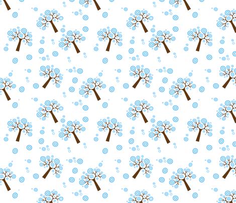 Winter tree fabric by ancapandrea on Spoonflower - custom fabric