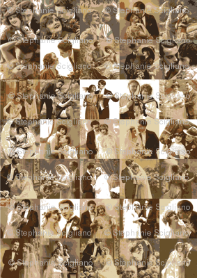 couples and marriage in sepia tones
