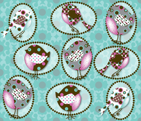 I Spotted Birds fabric by deesignor on Spoonflower - custom fabric