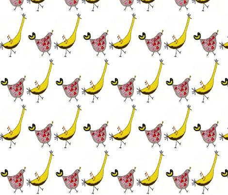 Whimsical Birds fabric by julescraft on Spoonflower - custom fabric