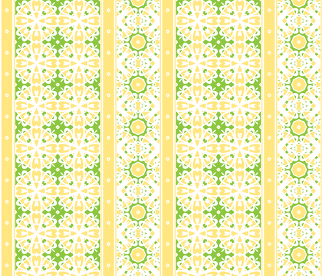 Lemon Chiffon Border fabric by inscribed_here on Spoonflower - custom fabric