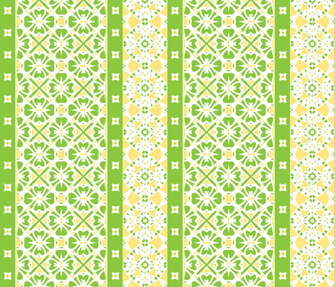 Lemon Lime Border fabric by inscribed_here on Spoonflower - custom fabric
