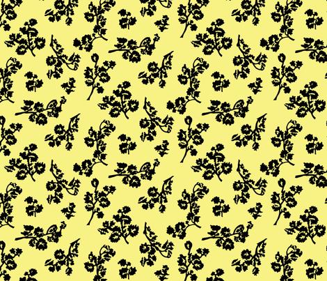 Shadow Foliage-Lemon fabric by ashland_house_designs on Spoonflower - custom fabric
