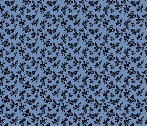 ShadowFoliage-Blue fabric by ashland_house_designs on Spoonflower - custom fabric