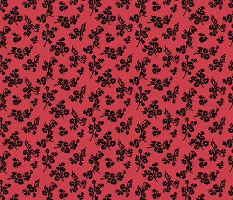 ShadowFoliage-Rhubarb fabric by ashland_house_designs on Spoonflower - custom fabric
