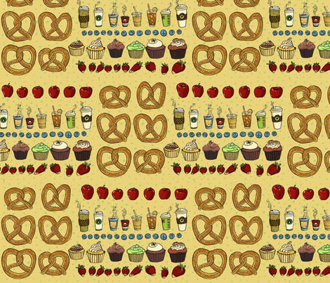 American Snack! fabric by 1stpancake on Spoonflower - custom fabric