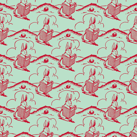 Bunny Tales fabric by tuppencehapenny on Spoonflower - custom fabric