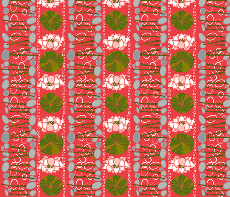Lotus_Pond-2jpg fabric by flyingtreestudios on Spoonflower - custom fabric