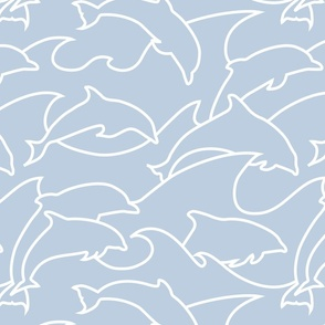 Dolphins outline
