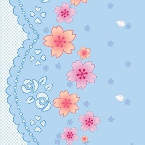 Sakura Bunnies - Lace Border