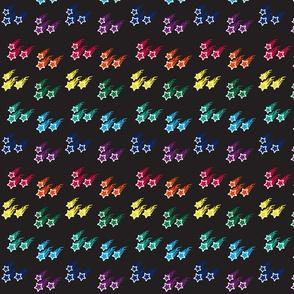 LLS stars - rainbow on black
