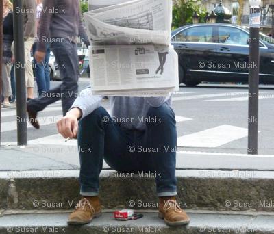 Newspaper Guy, sideways