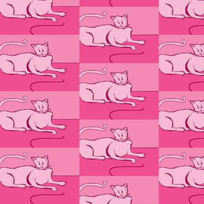 Ultra Pink Damask Catfink